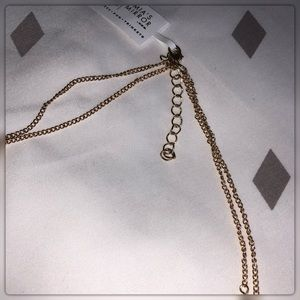 Jewelry - Beautiful Long Gold Double Layer Gemstone Necklace